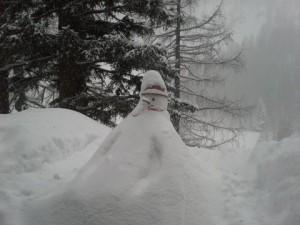 snežak prvi dan